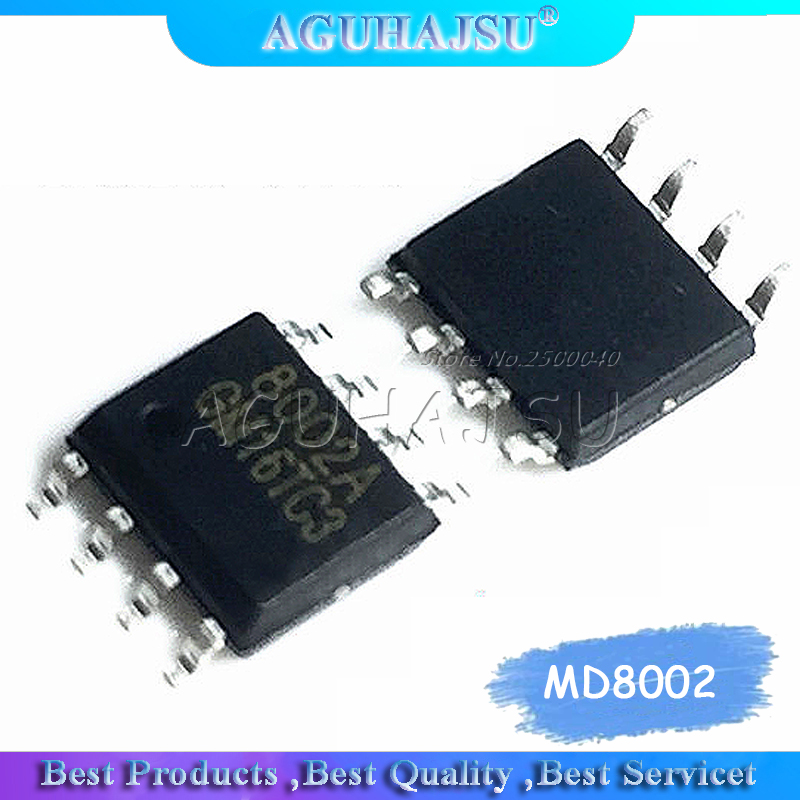 10PCS MD8002A SOP8 MD8002 SOP 8002A SMD SOP-8 8002 CKE8002B <font><b>NS8002</b></font> new and original IC image