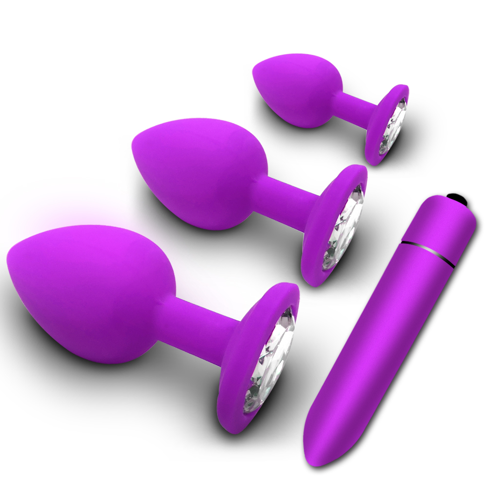<font><b>Anal</b></font> Butt Plug Soft Silicone Prostate Massager <font><b>Adult</b></font> Gay Products <font><b>Anal</b></font> Plug Mini Erotic Bullet Vibrator <font><b>Sex</b></font> <font><b>Toys</b></font> for Women Men image