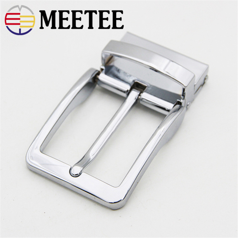 Meetee 35cm Width High Quality Men Belt Buckles Rotating Alloy Pin Buckle Suitable 33-34mm DIY Mens Jeans Accessories