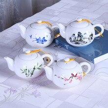 цена на Tea Pot Tea Filter Jade Porcelain Flower Stickers Simple Tea Pot Tea Set Siteel Teapot Set Traditional Chinese Tea Set ChinaTea