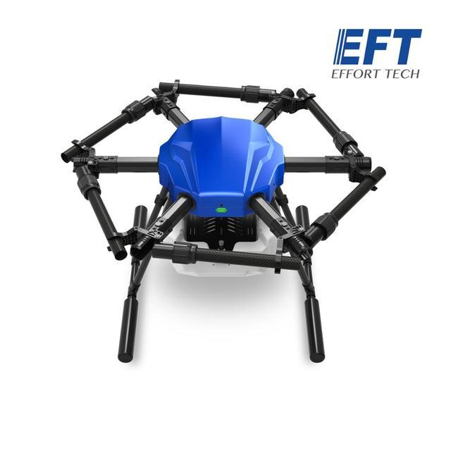 EFT E610S 10L الزراعية طائرة دون طيار للرش E610 10 كجم 610S فرش مضخة مياه رذاذ مع X6 مجموعة نظام الطاقة 6