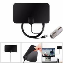 Envío Gratis TV Antena HDTV de HD'Digital interior amplificado 50 millas TV Fox ALUS Receptor de televisión por satélite