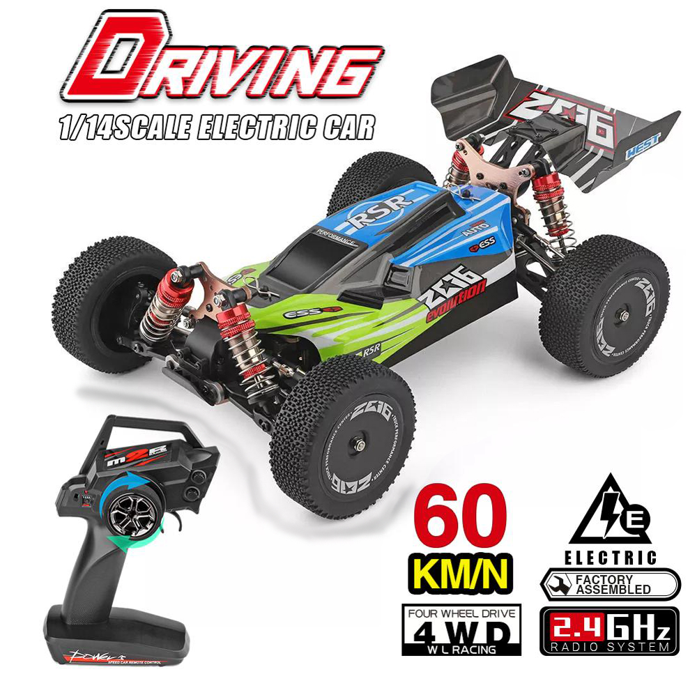 2019 WLtoys 1/14 144001 RTR 2.4GHz RC Car Scale Drift Racing Car 4WD Metal Chassis Shaft Ball Bearing Hydraulic Shock Absober