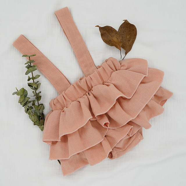Baby Girl's Ruffle Skirt with Straps 5