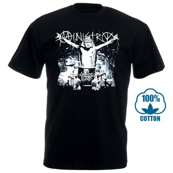 цена Ministry T Shirt Industrial Metal Killing Joke Nin Band Graphic Printed Tee онлайн в 2017 году