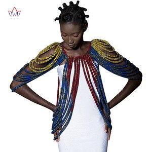 Image 1 - 2020 アフリカアンカラ手作りストラップネックレスファッションアクセサリージュエリーギフトafircan生地プリントネックレスショールSP002
