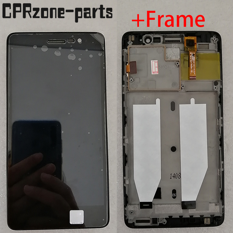 """5.3"""" Black With Frame For Lenovo S860 LCD display with touch screen digitizer sensor assembly free shipping"""