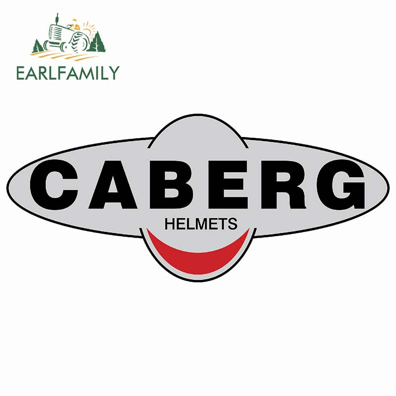 EARLFAMILY 13cm X 5.7cm For Caberg Helmets Refrigerator Fine Decal Car Accessories Sticker Car Styling Scratch-proof Decoration