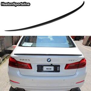 Image 1 - G30 M5 스타일 M 성능 탄소 섬유 후면 트렁크 립 스포일러 자동차 윙 BMW 530i 540i G30 2017UP