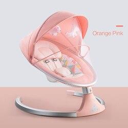 Высокое качество, для новорожденного ребенка, для сна, качели, расслабляющая электрическая колыбель, Bluetooth кресло-рокер с подушкой для сиден...