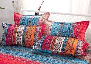 Image 4 - folkDigital print Bedding Set Quilt Cover Design Bed Set Bohemian a Mini Van Bedclothes 4pcs BE1224
