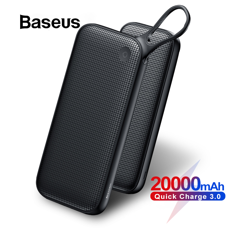 Baseus 20000mAh Power Bank Double Quick Charge 3.0 USB External Battery For IPhone 11 Pro Max 18W PD Fast Chagring Powerbank