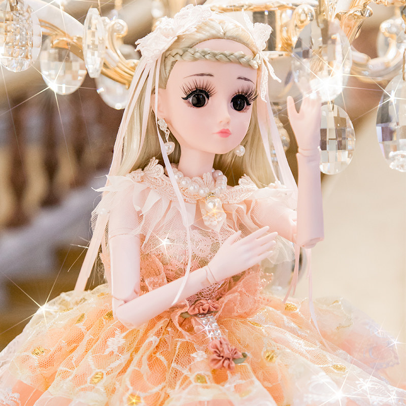 60cm Fashion Doll Girl Toy Princess Large Moveable Jointed DIY Smart Doll Toys Accessories Dummy Model Birthday Gift For Girl