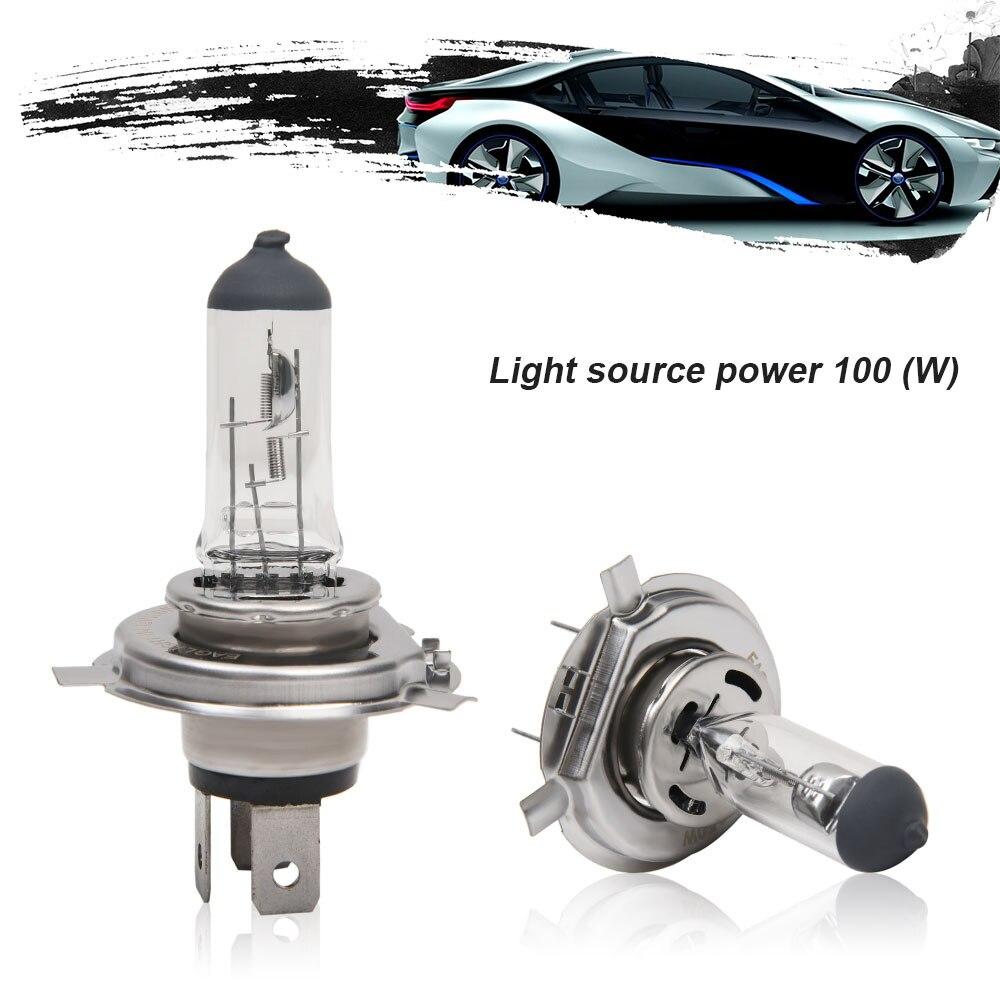 H4 bombilla de luz de coche H4 100W accesorios de coche profesional luz transparente bombilla halógena de cuarzo faros de coche para uso General
