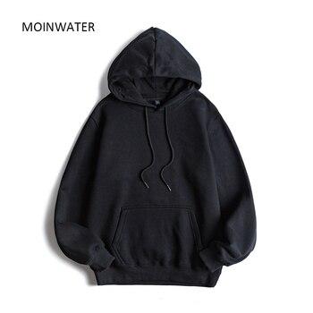 MOINWATER Brand New Women Fleece Hoodies Lady Streetwear Sweatshirt Female White Black Winter Warm Hoodie Outerwear MH2001 5