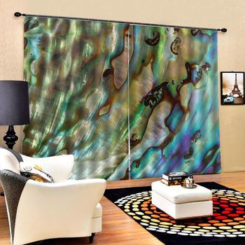Customized size Luxury Blackout 3D Window Curtain European Curtains Abstract color painting Photo Painted 3D Curtain Living room