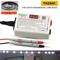 Tkdmr lâmpada led talão e luz de fundo testador precisa desmontar tela lcd todas as luzes led reparação teste de saída 0 260 v|Localizadores de disjuntor| |  -