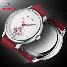 갈매기 시계 자동 기계식 시계 30 m 방수 가죽 발렌타인 시계 813.96.6024l