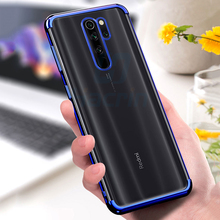 Hacrin Case For Xiaomi Redmi Note 8 pro Soft TPU Transparent Laser Plating Full Cover Global Version