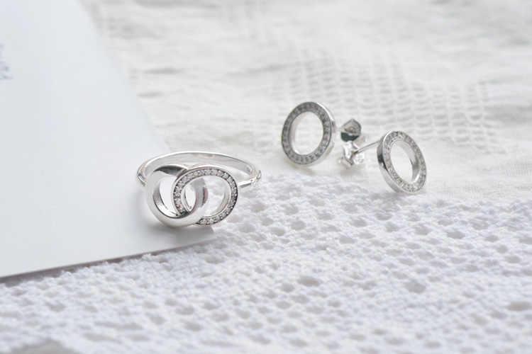 Mybeboa Trendy 925 Sterling Zilveren Ring Daisy Bloem Sparkling Heart Tiara Kroon Ringen Voor Vrouwen Engagement Anniversary Sieraden