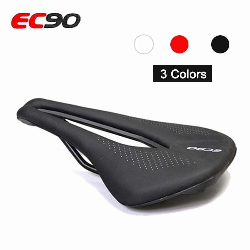 EC90 asiento de bicicleta transpirable sillín MTB bicicleta de carretera sillines bicicleta de montaña silla carreras PU asiento suave cojín piezas de repuesto de ciclismo