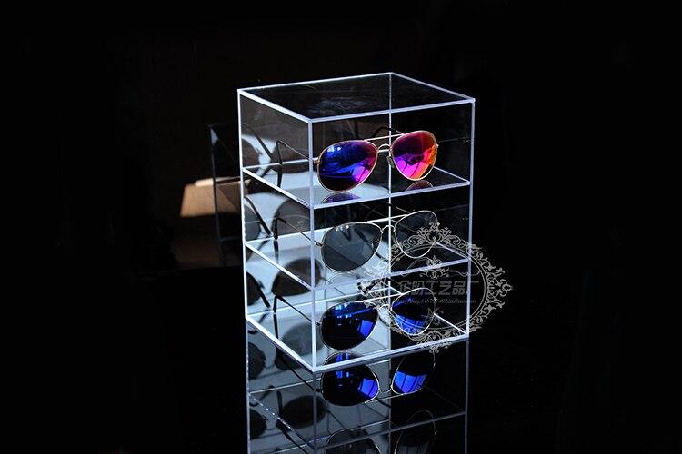 Acrylic  Sunglasses Rack Glasses Holder Display Stand Glass Shelf Eyeglasses Holder