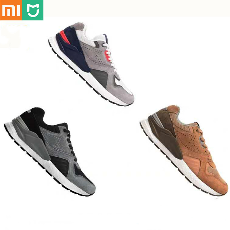 2020 Xiaomi Mijia Retro Sneaker Vintage Running Shoes Genuine Leather Suede Mesh Breathable Quality Design Xiaomi Sneaker