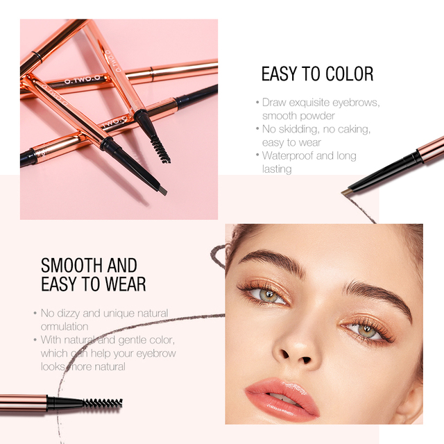 O.TWO.O Ultra Fine Triangle Eyebrow Pencil Precise Brow Definer Long Lasting Waterproof Blonde Brown Eye Brow Makeup 6 Colors 2