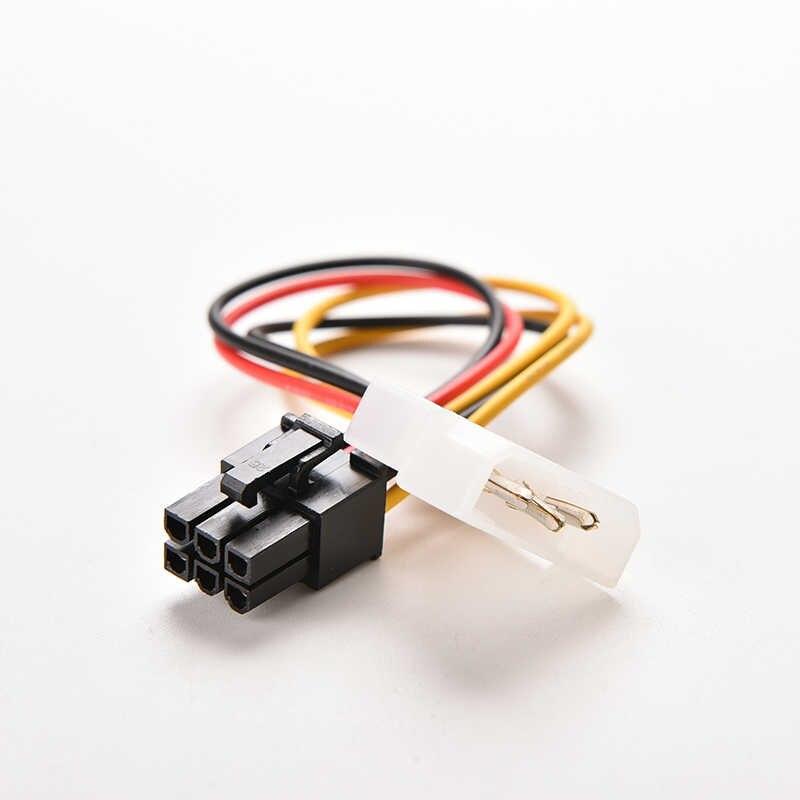 1 sztuk 17cm 4 Pin Molex IDE do 6 Pin PCI-E karta graficzna kabel zasilający Adapter wideo do komputera wejście na kartę kabel konwertera przewód