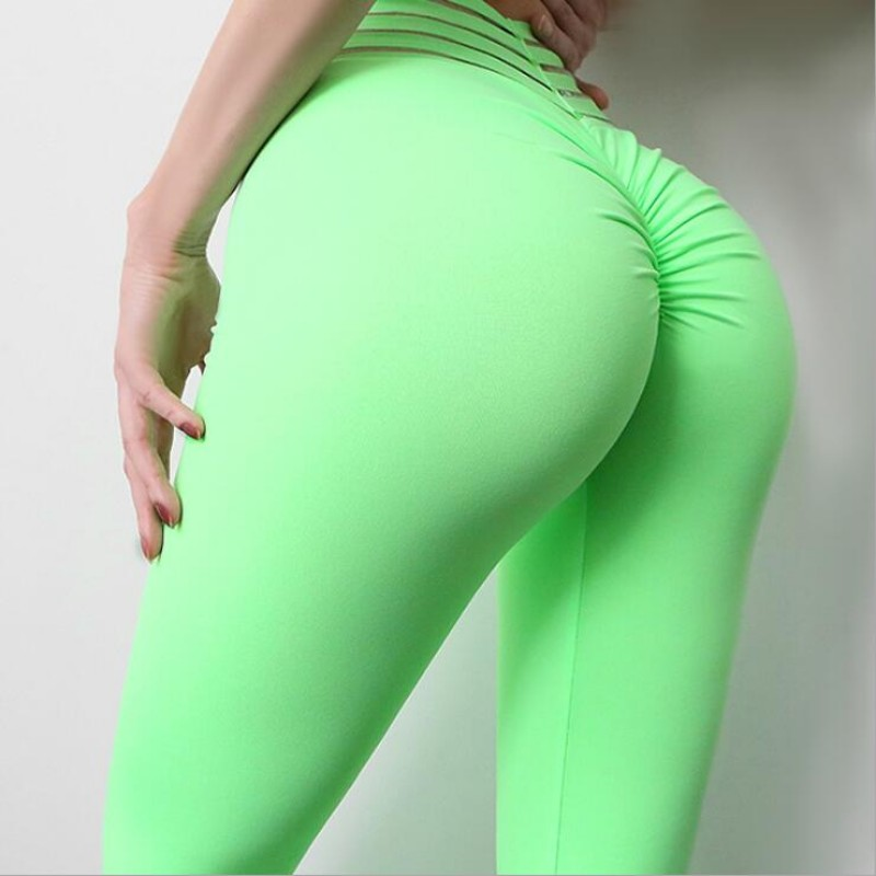 Women Push Up Leggings Sexy High Waist Elastic Knitted Nylon Leggings Femme Fitness Workout Jeggings Legging Women Sweatpants