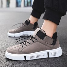 Men Boots Winter Short Plush Sport Flat Sneakers Male Autumn Grey Black Trainers Teenagers Youth Boys Warm Protect Cold Footwear(China)