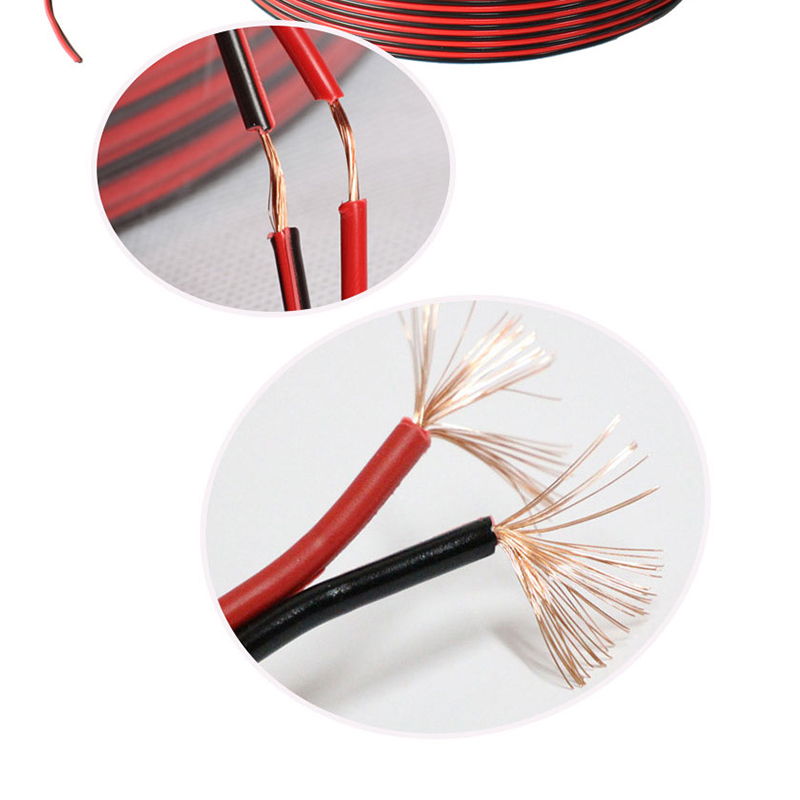 FrankEver 100M Speaker Cable Red And Black HIFI Audio Core Wire For Home Theater Stereo DJ System 2*0.3/0.5/0.75/1.5mm