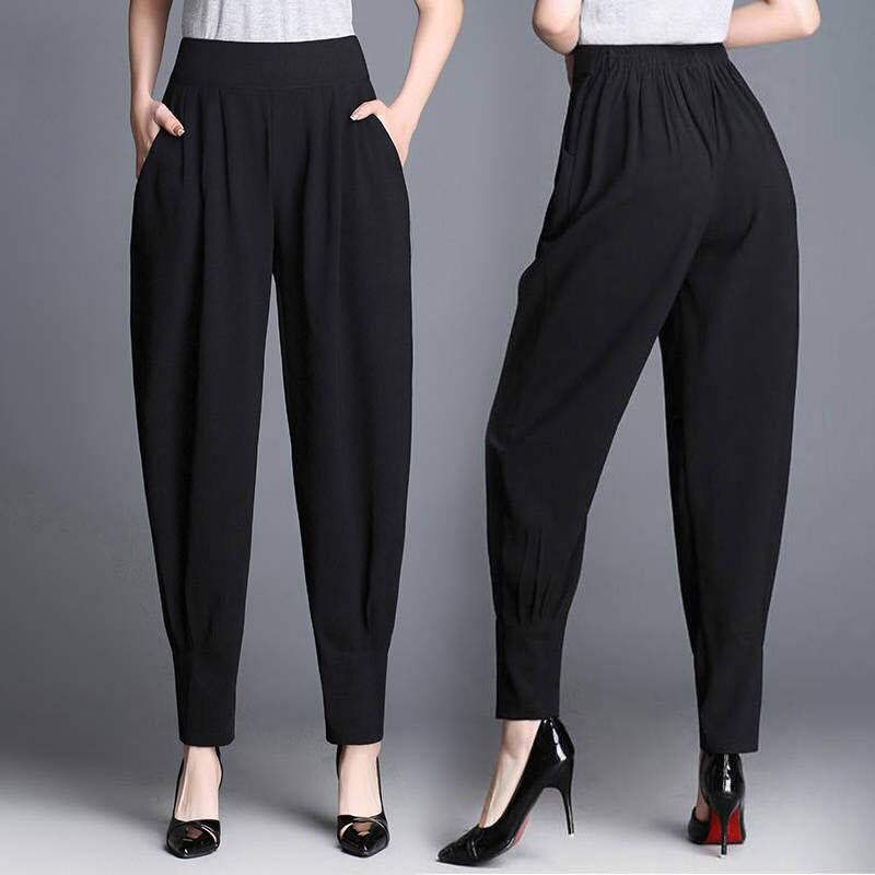 Baggy Harem Pants Women Spring/Summer High Waist Pants Women's Work Trousers Female Bloomers Ladies Wide Leg Pants Kpop- WO169