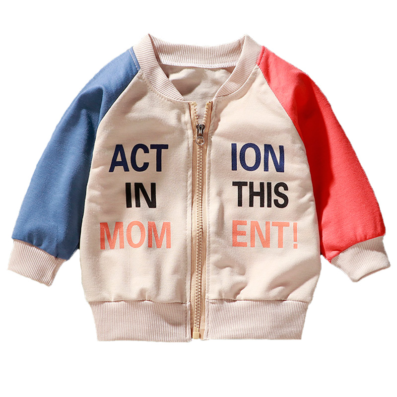 New Spring Autumn Jackets Boys Letter Print Coat Kids Clothes Baby Jacket for Children Clothing Toddler Girl Fall Clothes 2020
