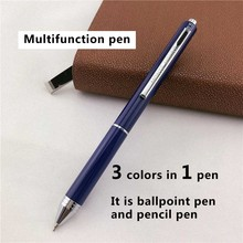 MONTE MOUNT luxury ballpoint pens for writing School Office supplies business gift 3 ink colors in 1 pen 024