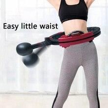 Entrenamientos magnéticos que aprietan el aro deportivo ABS conteo automático Ejercicio de cuidado de la salud cintura ajustable que quema la pérdida de peso