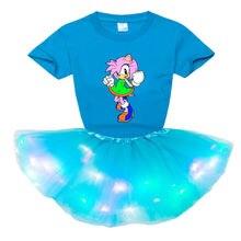 Комплекты для девочек платье футболка принцессы + пачка комплект