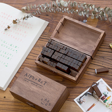 Yoofun 70pcs/box Multiple Vintage Wooden Journal Stamps, Retro Creative Letters And Numbers Seal DIY Student Stationery Supplies