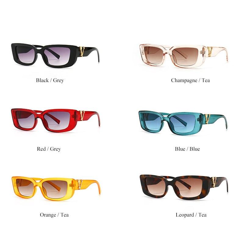 Retro Small Rectangle Sunglasses Candy Colors Gradient Sun Glasses Shades UV400 5