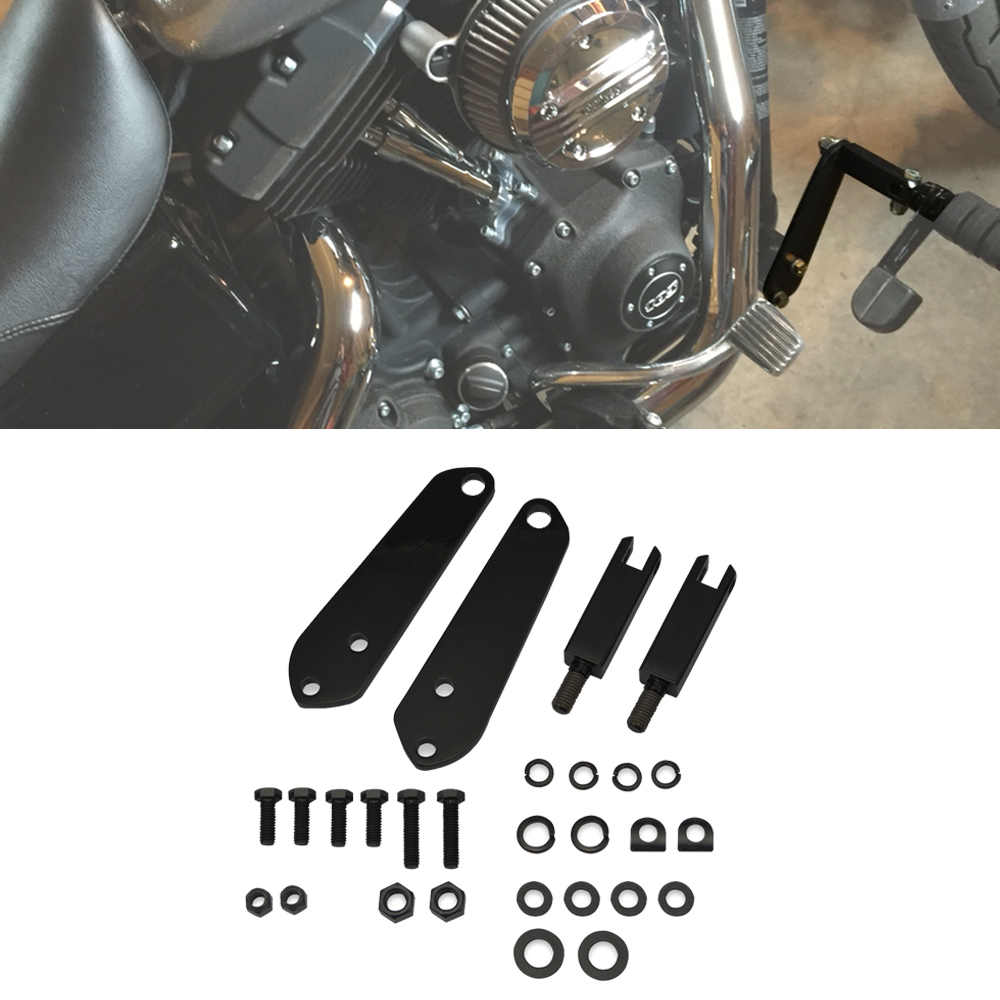 Глянцевый черный Круизный шоссейный Подножка для ног колышек комплект крепления подходит 1991-2017 Harley Dyna FXD