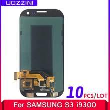 10 ピース/ロットスーパー AMOLED サムスンギャラクシー S III S3 i9300 i9300i i9301 i9301i i9305 液晶ディスプレイタッチスクリーンデジタイザアセンブリ