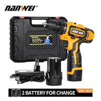 Hot Sale 12V/18V Cordless Screwdriver Lithium/ Battery Electric Mini Drill