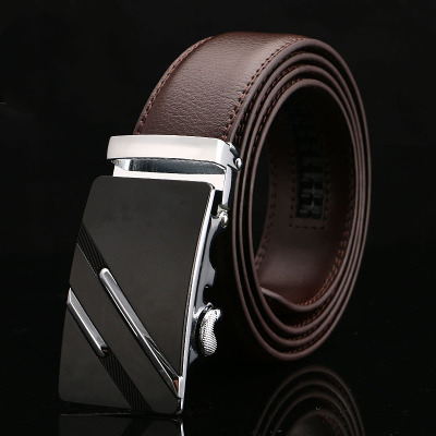 2022 High Quality designer belts Mens Genuine Leather Belt Brown Automatic Buckle Waist Strap Business Male belt