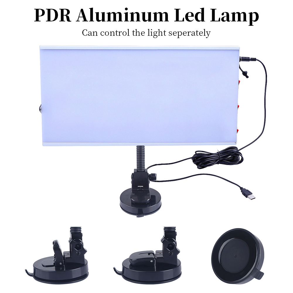 PDR LED Lamp Reflector Board PDR Dent Repair Tools LED Light Reflection Board with Adjustable Holder Hand Tool Set