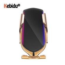 R1 自動クランプ 10 ワット車のワイヤレス充電器赤外線誘導のためのチーワイヤレス充電器自動車電話ホルダー電話スリヴァー/ ゴールド