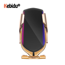 R1 Automatic Clamping 10W Car Wireless Charger Infrared Induction Qi Wireless Charger Car Phone Holder  For Phone Sliver/Gold