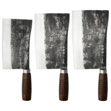 Duży serbski nóż obozowy kute tasak kuchenny 7-8 Cal Heavy Duty w starym stylu kości do krojenia bardzo gruby nóż rzeźnicki tanie tanio CN (pochodzenie) STAINLESS STEEL Ekologiczne Noże bone chopping knife Cleaver