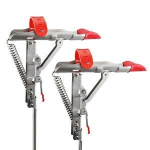 Image 1 - New Full Stainless Steel Automatic Spring Fishing Rods Holders, Adjustable Sensitivity Folding Fishing Bite Bracket