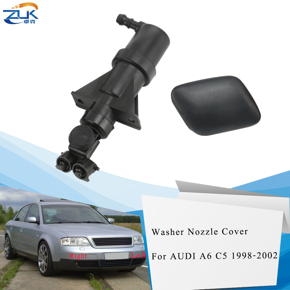 ZUK Headlight Headlamp Water Spray Nozzle Jet Actuator With Washer Cover Cap Case Lid For AUDI A6 C5 1998 1999 2000 2001 2002