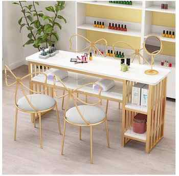 Nail table single European minimalist nail table online celebrity double nail table and chair set economical nail shop table - DISCOUNT ITEM  27 OFF Furniture